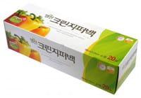 """MyungJin """"Bags Zipper type"""" Пакеты полиэтиленовые пищевые с застежкой-зиппером (в коробке), 25 x 30 см, 20 шт."""