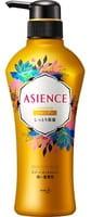 KAO «Asience» Увлажняющий шампунь для волос, с мёдом и протеином жемчуга, цветочный аромат, 450 мл.
