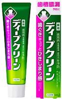 """KAO """"Deep Clean"""" Зубная паста для профилактики кариеса и гингивита, со вкусом мяты и зелёного чая, 100 г."""