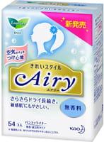 """KAO """"Laurier Airy"""" Ежедневные гигиенические прокладки для чувствительной кожи, без аромата, 54 шт."""