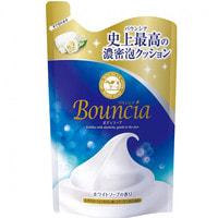 """COW """"Bouncia"""" Жидкое увлажняющее мыло для тела с гиалуроновой кислотой и коллагеном, со свежим цветочным ароматом, запасной блок, 400 мл."""