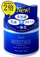 """KRACIE """"Moistage"""" Увлажняющий ночной крем для лица тройного действия - для сухой и возрастной кожи, 100 г."""