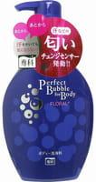 SHISEIDO «Perfect Bubble for Body» Жидкое пенное мыло для тела с длительным дезодорирующим эффектом, с цветочным ароматом, 500 мл.