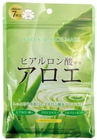 JAPAN GALS Курс натуральных масок для лица с экстрактом алоэ, 7 шт.