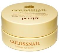 Petitfee Гидрогелевые патчи для кожи вокруг глаз гидрогелевая, с золотом и экстрактом слизи улитки, 60 шт.