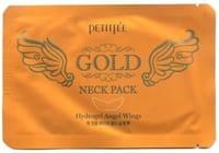 """Petitfee """"Gold Neck Pack"""" Гидрогелевая маска для кожи шеи, с золотом и экстрактом улитки, 10 г."""