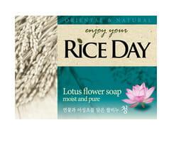 """CJ LION """"Riceday"""" Мыло туалетное с экстрактом лотоса, 100 г."""
