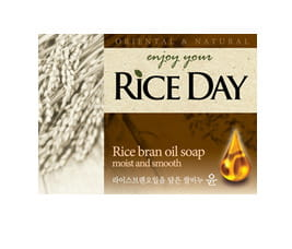 """CJ LION """"Riceday"""" Мыло туалетное с экстрактом рисовых отрубей, 100 г."""