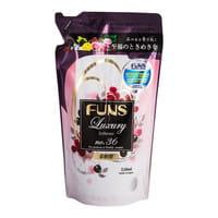 """DAIICHI """"ФАНСУ-LUXURY"""" концентрированный кондиционер для белья с ароматом грейпфрута и чёрной смородины, 520 мл, сменная упаковка."""