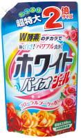 """Nihon """"White Bio Plus gel"""" Гель для стирки с отбеливающей, дезодорирующей и смягчающей функцией, 1620 г. Сменная упаковка."""