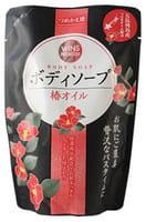 """NIHON Detergent """"Wins Camellia oil body soap"""" Премиум крем-мыло для тела с маслом камелии, 400 мл."""