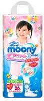 Moony Японские трусики для девочек GIRL XXL (13-25 кг), 26 шт.