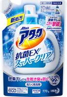 """KAO """"ЕХ Super Clear"""" Высокоэффективный гель для стирки белья с антибактериальным эффектом, с ароматом зелени, запасной блок, 770 г."""