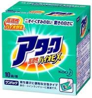 """KAO """"Attack Bio EX"""" Высокоэффективный стиральный порошок, с цветочно-травяным ароматом, 10 пакетиков по 27 гр."""