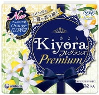 """Unicharm """"Sofy Kiyora Premium, Orange Flower"""" Ежедневные гигиенические прокладки с ароматом цветов апельсинового дерева, 72 шт."""