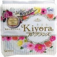 """Unicharm """"Sofy Kiyora Happy Floral"""" Ежедневные гигиенические прокладки с цветочным ароматом, 72 шт."""