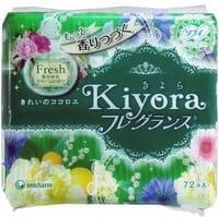 """Unicharm """"Sofy Kiyora Fresh"""" Ежедневные гигиенические прокладки с ароматом свежей зелени, 72 шт."""