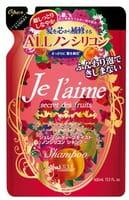 """Kose Cosmeport """"Je l'aime"""" Шампунь для сухих и окрашенных волос с абрикосовым маслом """"Глубокое увлажнение"""", без силикона, с фруктово-цветочным ароматом, запасной блок, 400 мл."""