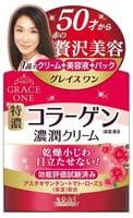 """KOSE Cosmeport """"Grace One"""" Антивозрастной крем для лица с коллагеном 3 в 1, для кожи после 50 лет, 100 г."""