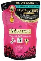 """KOSE Cosmeport """"Oleo D'or"""" Шампунь для повреждённых волос на основе пяти видов масел """"Восстановление и защита"""", без силикона, с ягодно-цветочным ароматом, запасной блок, 400 мл."""