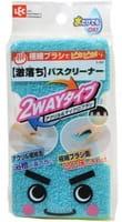 """LEC """"2 Way"""" Губка-щётка для мытья ванны, акрил и микрощётка, 1 шт."""