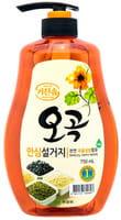 """Mukunghwa Увлажняющее средство для мытья посуды, овощей и фруктов в холодной воде """"5 злаков"""", 750 мл."""