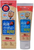 """Mukunghwa """"Kizcare Doctor"""" Детская гелевая лечебно-профилактическая зубная паста, со вкусом клубники, с 0 лет, 80 г."""