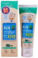 """Mukunghwa """"Kizcare Doctor"""" Детская гелевая лечебно-профилактическая зубная паста, со вкусом зелёного винограда, с 0 лет, 80 г."""