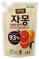 """MUKUNGHWA """"Сочный грейпфрут"""" Премиальное антибактериальное средство для мытья посуды, овощей и фруктоа в холодной воде, сменная упаковка, 1,2 л."""
