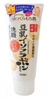 """Sana """"Soy Milk Moisture Cleansing Wash"""" Пенка для умывания и снятия макияжа увлажняющая с изофлавонами сои, 150 г."""