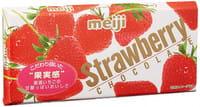 Meiji Молочный шоколад с клубничным кремом, коробка, 46 гр.