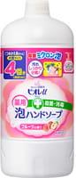 KAO «Biore U» Жидкое мыло-пенка для рук с антибактериальным эффектом, с фруктовым ароматом, запасной блок, 800 мл.