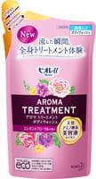 KAO «Biore U Aroma Time» Увлажняющий и смягчающий гель для душа, с ароматом цветов, запасной блок, 340 мл.