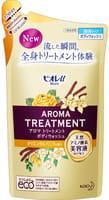 KAO «Biore U Aroma Time» Увлажняющий и смягчающий гель для душа, с ароматом ванили, запасной блок, 340 мл.