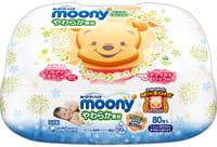 Unicharm «Moony» Детские влажные салфетки, мягкие, 80 шт.