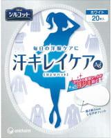 Unicharm Ультратонкие вкладыши для защиты от пота, с ионами серебра, белые, 20 шт.