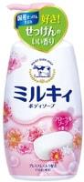 """COW """"Milky"""" Жидкое пенное мыло для тела c керамидами и молочными протеинами, с цветочным ароматом, 550 мл."""