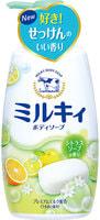 """COW """"Milky"""" Жидкое пенное мыло для тела c керамидами и молочными протеинами, с цитрусовым ароматом, 550 мл."""