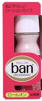 LION «Ban» Дезодорант-антиперспирант «Длительная защита», с легким цветочным ароматом, ролик, 30 мл.