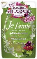 KOSE Cosmeport «Je l'aime» Тритмент для тусклых волос «Блеск и восстановление», с гиалуроновой кислотой, без силикона, с ароматом лесных трав, запасной блок, 400 мл.