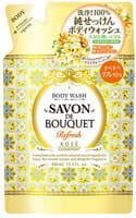 KOSE Cosmeport «Savon De Bouquet» Освежающее жидкое мыло для тела на основе растительных экстрактов, с фруктово-цветочным ароматом, запасной блок, 400 мл.