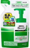 KAO «Men's Biore» Мужская пенка для умывания и бритья, с противовоспалительным эффектом, запасной блок, 130 мл.