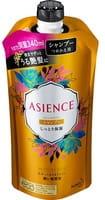 KAO «Asience» Увлажняющий шампунь для волос, с мёдом и протеином жемчуга, цветочный аромат, запасной блок, 340 мл.
