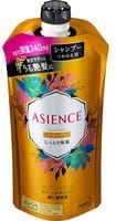 """KAO """"Asience"""" Увлажняющий шампунь для волос, с мёдом и протеином жемчуга, цветочный аромат, запасной блок, 340 мл."""