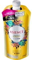 KAO «Asience» Увлажняющий кондиционер для волос, с мёдом и протеином жемчуга, цветочный аромат, запасной блок, 340 мл.