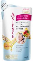 KAO «Asience Nature Smooth» Разглаживающий шампунь для волос с маслом арганы и камелии, с ароматом белых цветов, запасной блок, 340 мл.