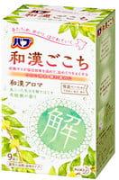 KAO «Wakan» Освежающая соль для ванны в таблетках, для снятия боли и улучшения циркуляции крови, с ароматом лавра, 9 x 50 г.