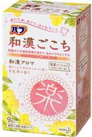 KAO «Wakan» Освежающая соль для ванны в таблетках, для снятия боли и улучшения циркуляции крови, с ароматом примулы, 9 x 50 г.