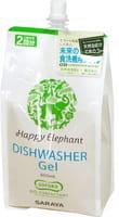 SARAYA «Happy Elephant» Гель для посудомоечных машин на основе натуральных компонентов, без аромата, запасной блок, 800 мл.