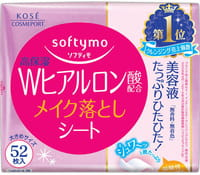 KOSE Cosmeport «Softymo» Влажные салфетки для снятия макияжа, с гиалуроновой кислотой, запасной блок, 52 шт.